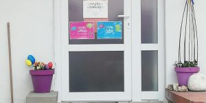 Vchodové dveře školka
