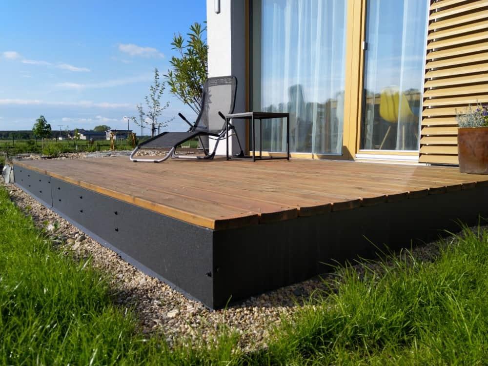 dřevěná terasa RD Sendražice